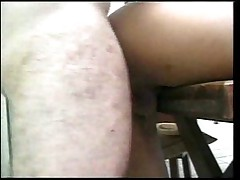 Shemale fucked in kitchen