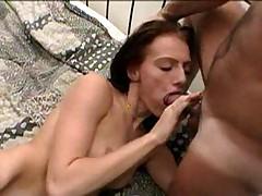 Nadia blowing cock