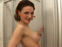 Sucking and fucking under the shower