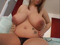 Busty prego dildoing say no to wet pussy
