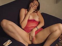 Brunette Masturbating