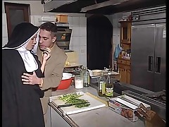 German nun assfucked in pantry