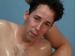 Oiled-up wrestling pussy