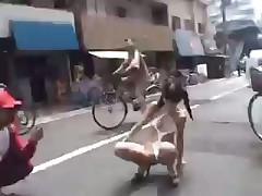Japanese cutie in public