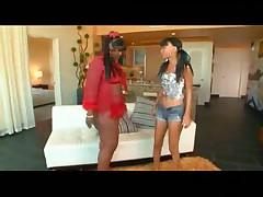Skinny and BBW black lesbians