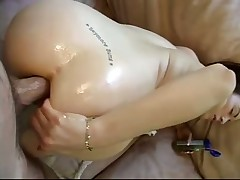 Squirting while ass fucked