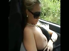 German Bitch blowjob in the car