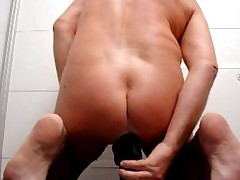 Big Black Dildo Extreme Asshole Anus After Ass Insertions..