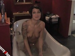 Bathroom Anal Show