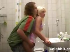 She Gets Fuck In Bathroom Blonde Teen Babe 1