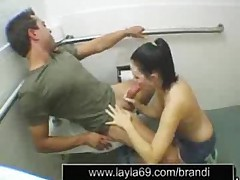 Wonderful Blowjob In Gastation Bathroom