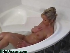 Sexy Ass Blonde With Big Tits Masturbates In Bathroom And..
