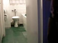 Black African Hooker Prostitute Fucked Standing In Bathroom..