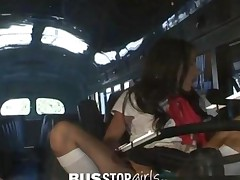 Teen Amia Miley Gets Fucked By Bus Mechanic