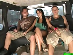 Hottie Latina Diamond Kitty On The Hump Bus
