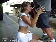 Girl Gives A Hot Blow Job In A Car 18