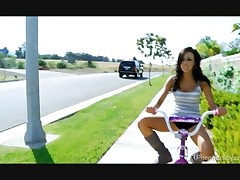Hot Bitch On A Bike Breanne Benson Rides Cock In The Back..