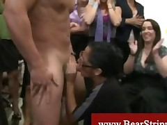 Cfnm Brunette With Glasses Gets A Facial