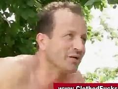 Cfnm Glamorous Outdoor Threesome
