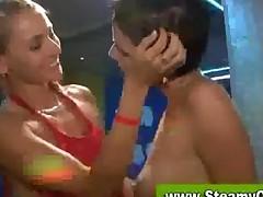Sexy Cfnm Babe Gets Cumstache