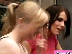 Cfnm Group Glamorous Amateur Women