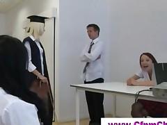 Cfnm Schoolgirls In Detention Get Naughty