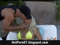 Smoking Hot Blonde Cheerleader Fucks Poolboy