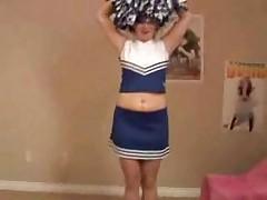 Amateur Cheerleader Teasing