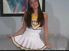 Cheerleader Renee Lifts Her Skirt For You