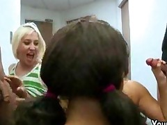 Blowjob Orgy With College Cheerleaders
