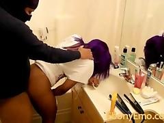 Ebony Emo Bathroom Sex Public