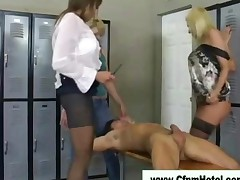 Mean Cfnm Bitches Force Femdom Guy