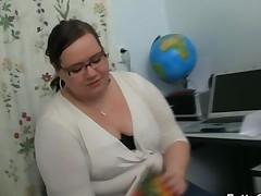 Fatty Teacher Lures A Stud