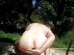 Fisting Ass In The Open Air