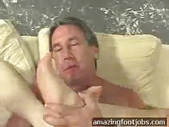 Threesome Footjob