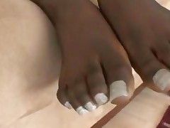 Black Girl Footjob 5
