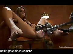 Spread Legs Tori Black Fucking Machine In Armchair