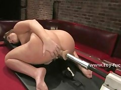 Experienced Slut Pleases Herself With Large Fucking Machines..