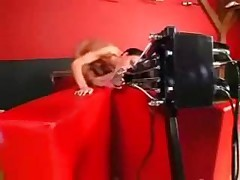Cute German Girl With Fucking Machine