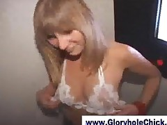 Slut Sucking Strangers At Gloryhole