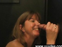 Mature Gloryhole Facial