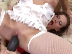 Horny Lezzie Ladies Screw Their Hairy Pussies And Arseholes..