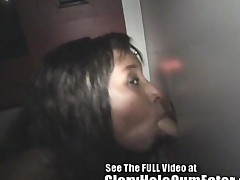 Ebony Cameron Sucks And Fucks White Cocks In Tampa Gloryhole