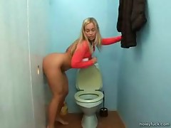 Hot Blonde Teen Fucked In A Gloryhole
