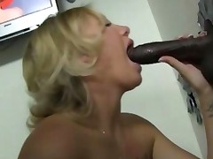 Tracey Sweet Works A Black Gloryhole Cock