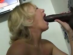 Tracey Sweet Works A Black Gloryhole Cock
