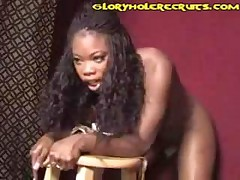 Black Beauty Glory Hole Cumshot