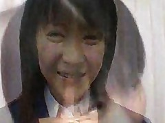 Yuria Hidaka In Her School Uniform Receives Messy Bukkake