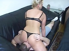 Slave Is Facesitted As He Inhales Mistress Stinky Fart