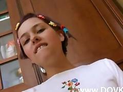 Innocent Schoolgirl In A Kitchen